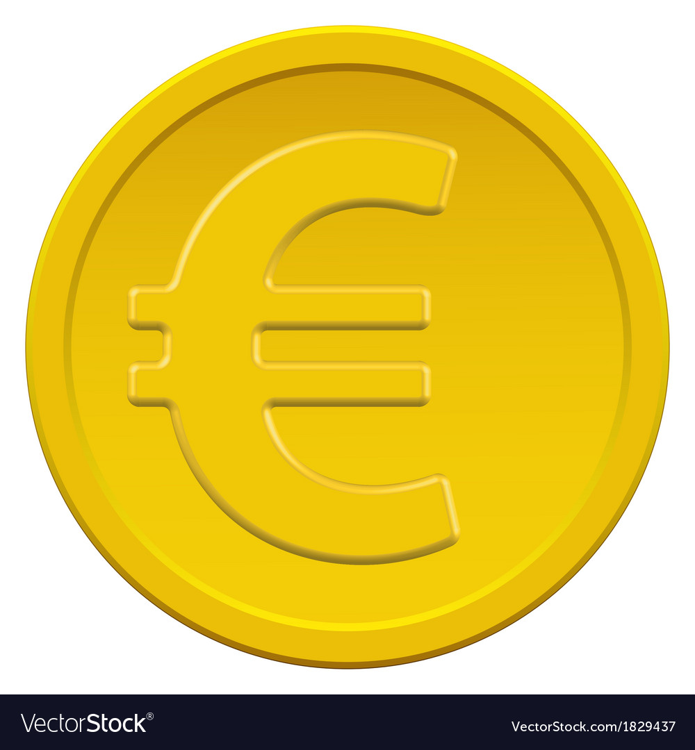 Gold euro coin vector | Price: 1 Credit (USD $1)
