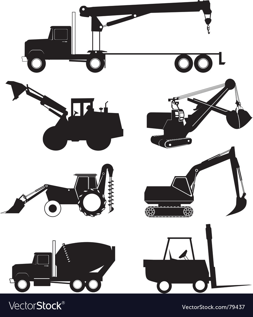 Industry vehicle silhouette vector | Price: 1 Credit (USD $1)