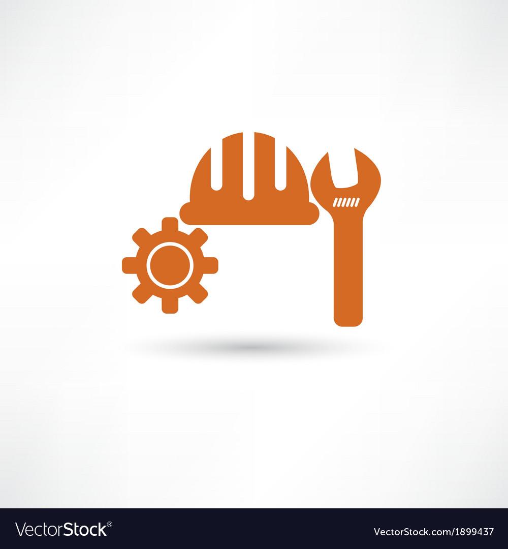 Orange setting icon vector | Price: 1 Credit (USD $1)