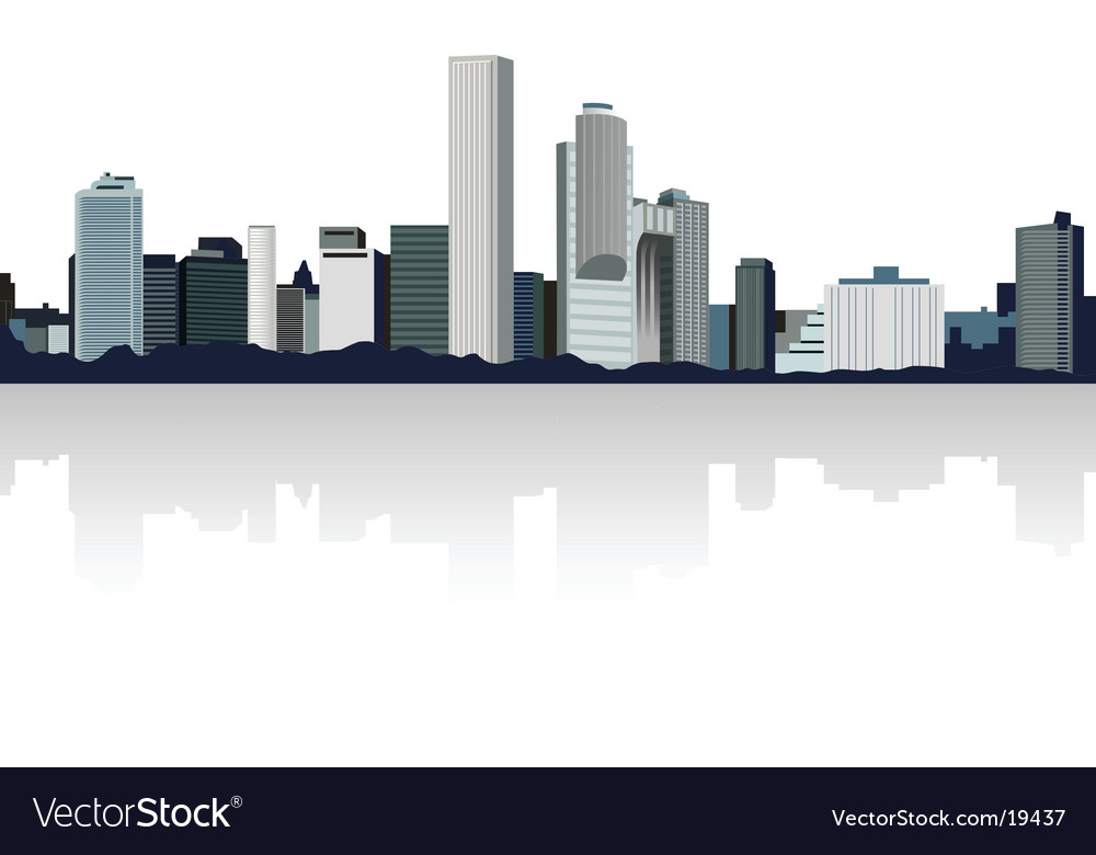 Panorama city vector | Price: 1 Credit (USD $1)