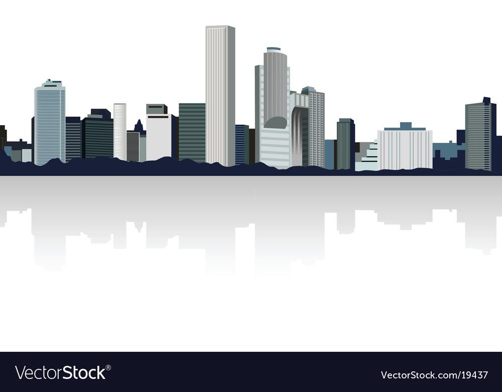 Panorama city vector | Price: 1 Credit (USD $1)