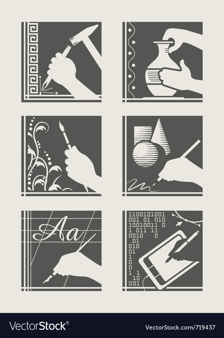 Set of art occupation vector | Price: 1 Credit (USD $1)