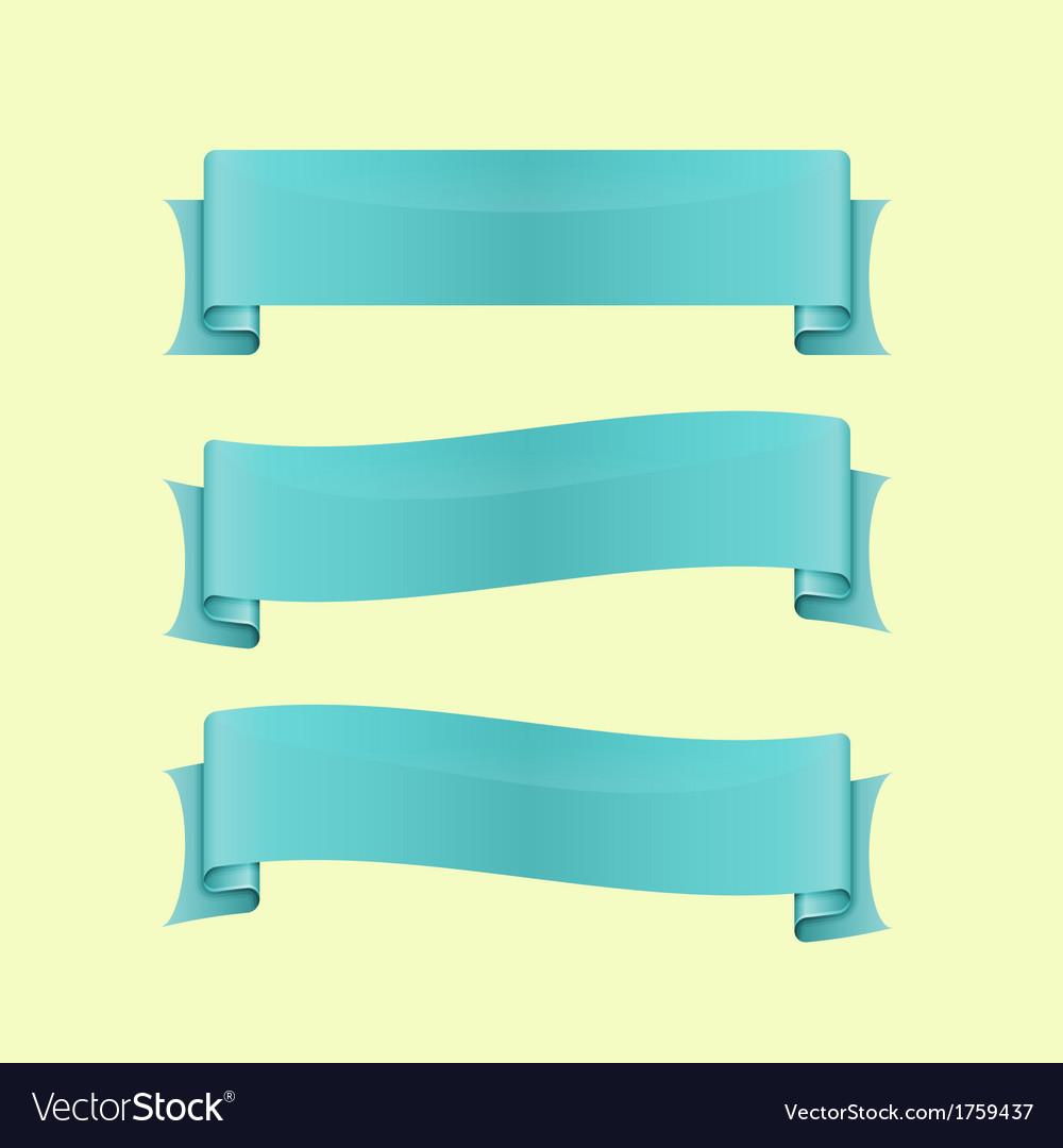 Set of blue sleek web ribbon vector | Price: 1 Credit (USD $1)