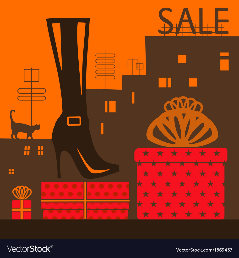 Showcase shoe store vector | Price: 1 Credit (USD $1)