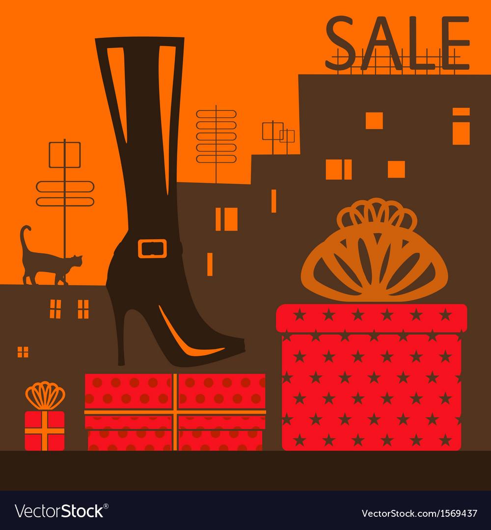 Showcase shoe store vector | Price: 1 Credit (USD $1)