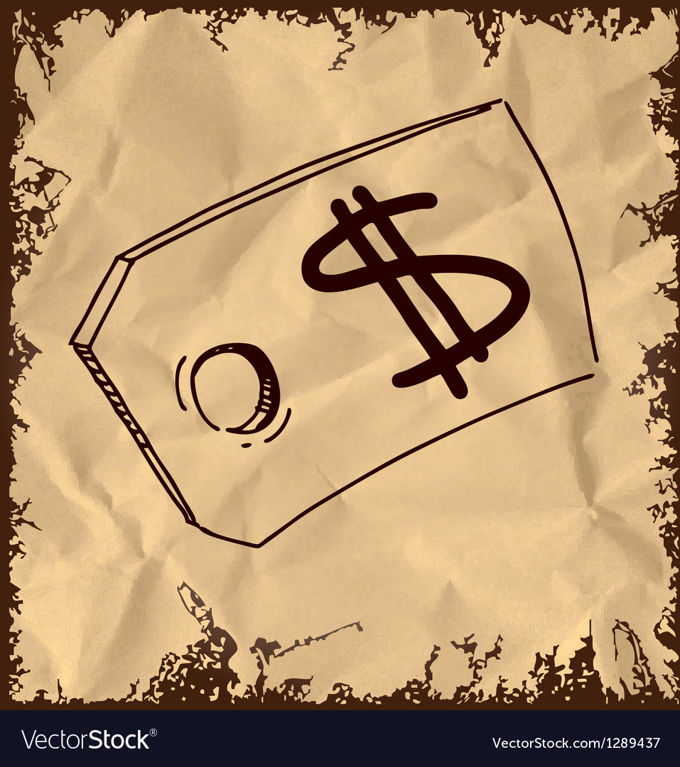 Tag with price sign isolated on vintage background vector   Price: 1 Credit (USD $1)