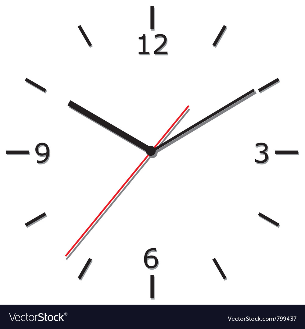 Wall clock vector | Price: 1 Credit (USD $1)
