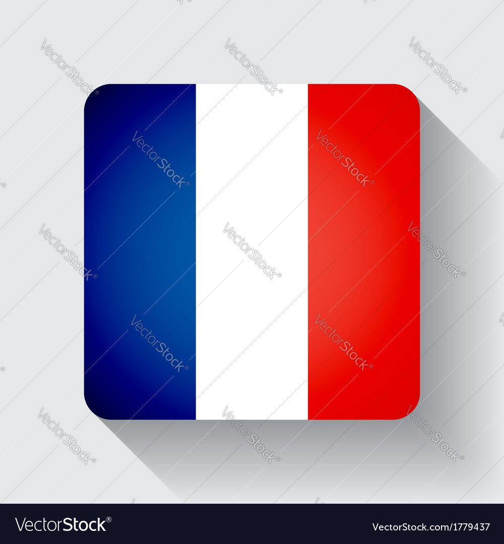 Web button with flag of france vector | Price: 1 Credit (USD $1)