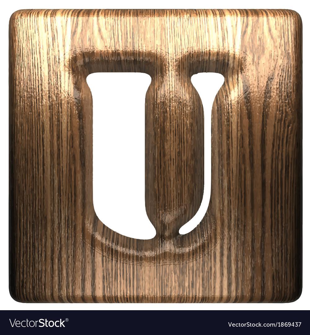 Wooden figure u vector | Price: 1 Credit (USD $1)
