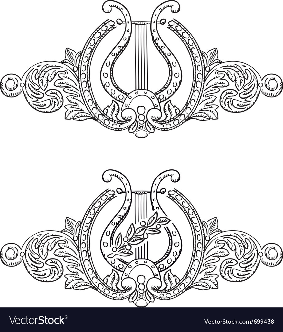 Ancient lyre vector | Price: 1 Credit (USD $1)