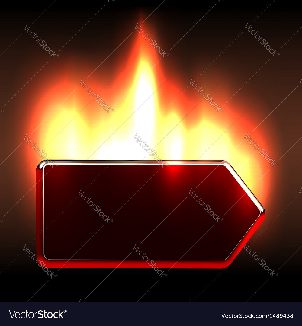 Bright burning label notice vector | Price: 1 Credit (USD $1)