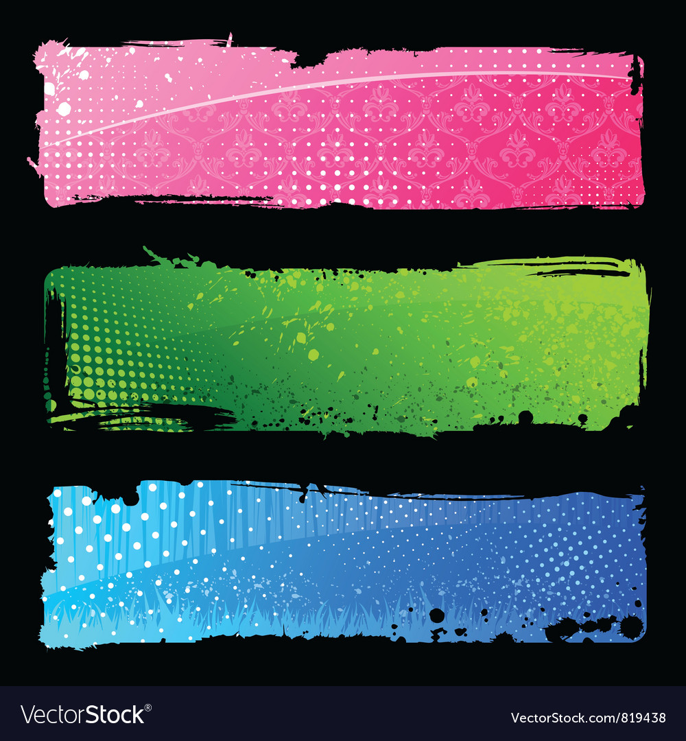 Color hand banners vector | Price: 1 Credit (USD $1)