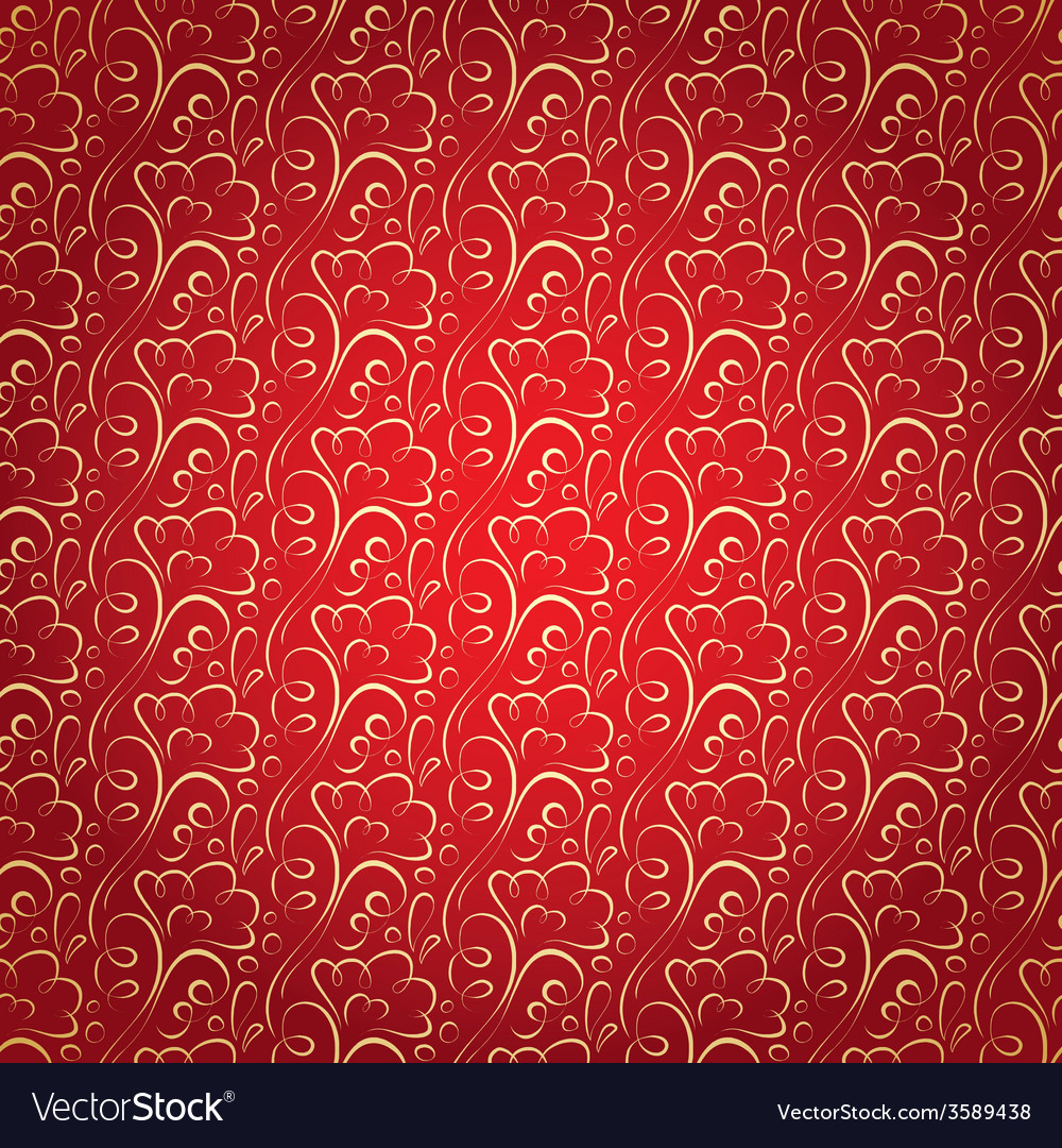 Gold floral pattern on claret celebratory vector | Price: 1 Credit (USD $1)