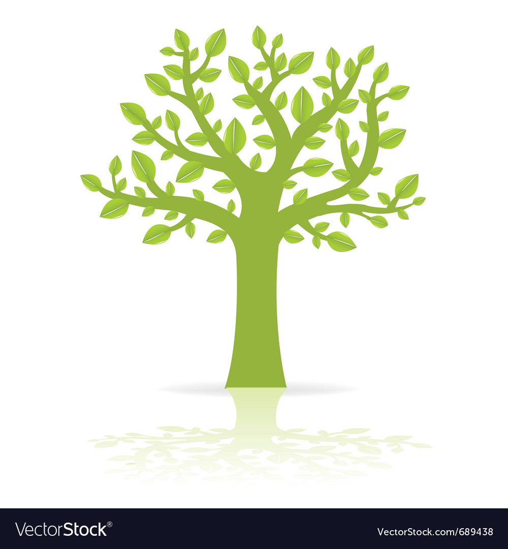 Green eco tree vector | Price: 1 Credit (USD $1)
