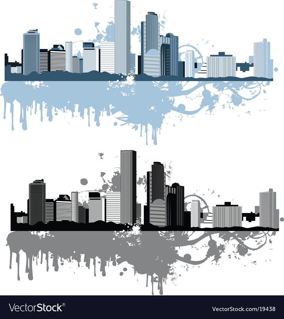 Grunge cityscapes vector | Price: 1 Credit (USD $1)