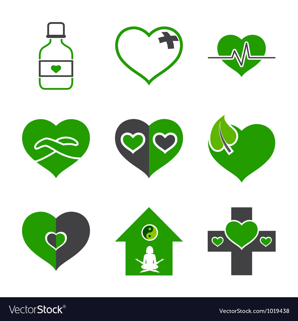 Health care and ecology symbols vector | Price: 1 Credit (USD $1)
