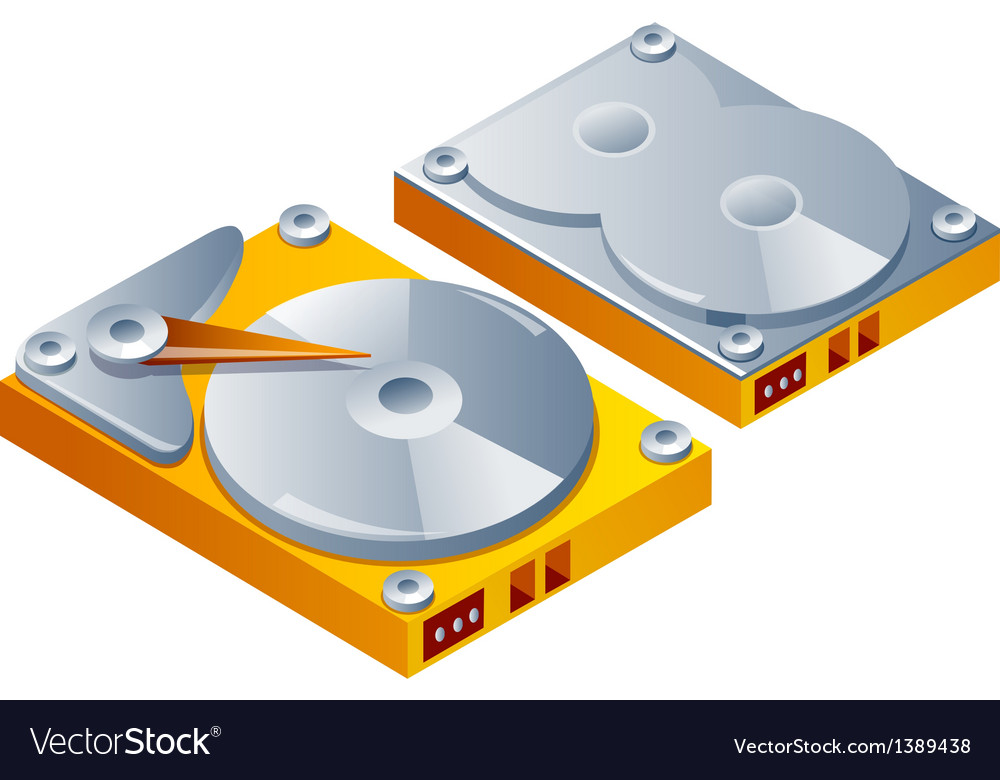 Icon hard disk vector | Price: 1 Credit (USD $1)