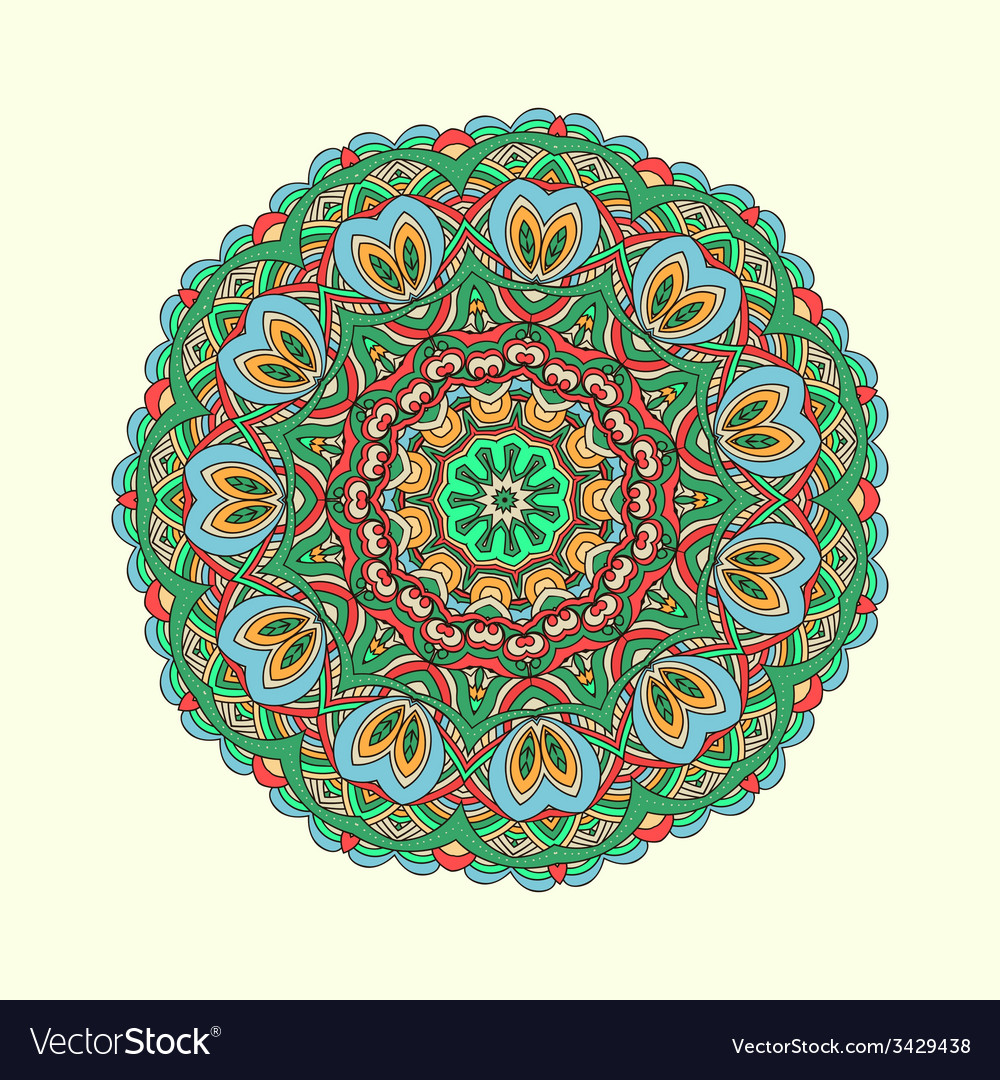 Oriental colorful traditional ornament vector | Price: 1 Credit (USD $1)