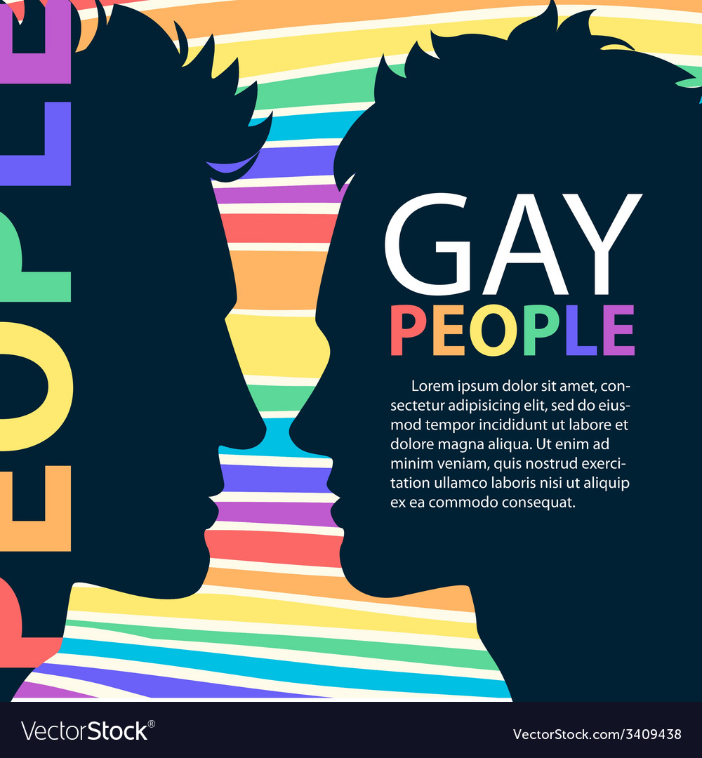 Profiles of two men homosexual couple with place vector   Price: 1 Credit (USD $1)