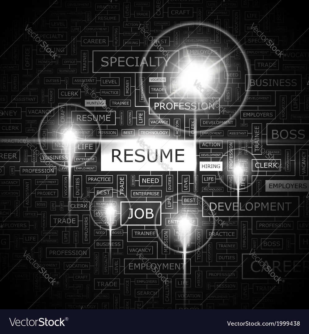 Resume vector | Price: 1 Credit (USD $1)