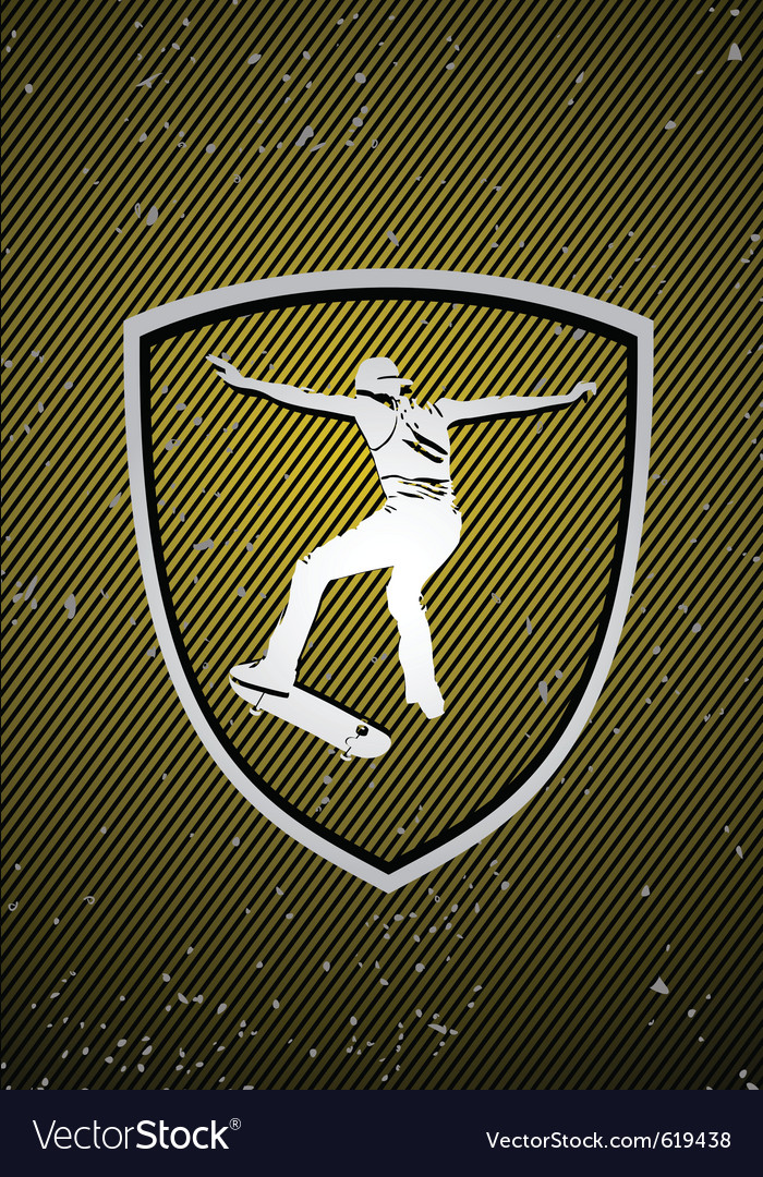 Skateboarding badge vector | Price: 1 Credit (USD $1)