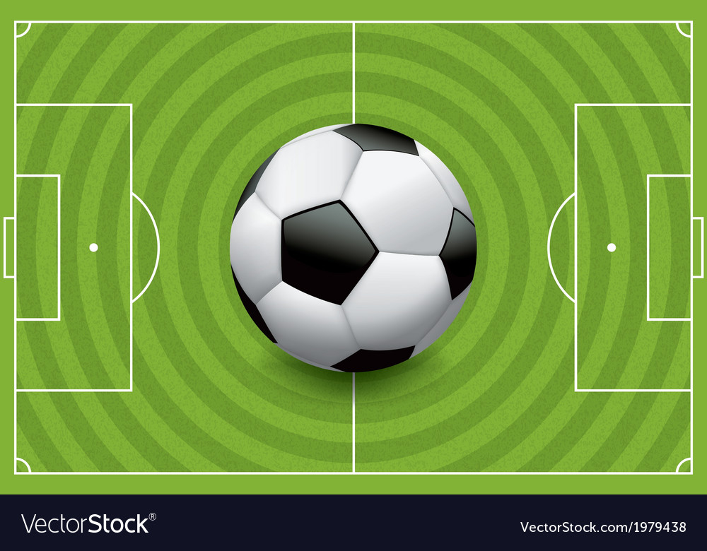 Soccer football field with ball vector | Price: 1 Credit (USD $1)