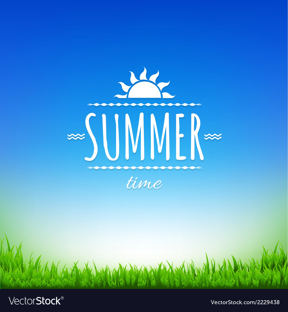 Summer time banner vector | Price: 1 Credit (USD $1)