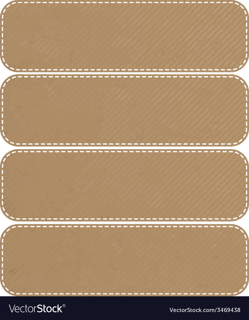 Tag recycled paper craft stick on white background vector | Price: 1 Credit (USD $1)