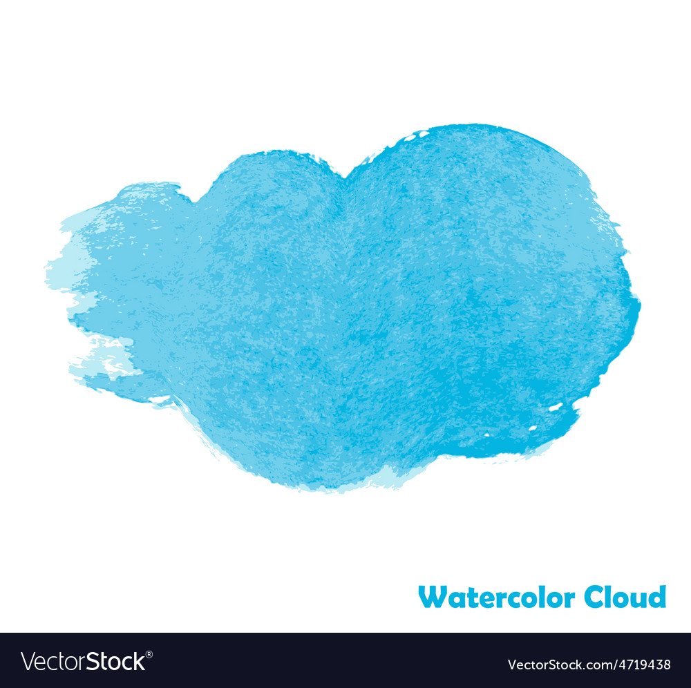 Watercolor cloud for your design vector | Price: 1 Credit (USD $1)