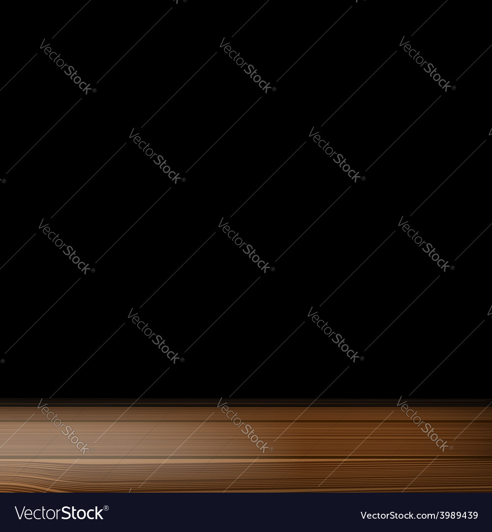 A wooden table on a black background vector | Price: 1 Credit (USD $1)