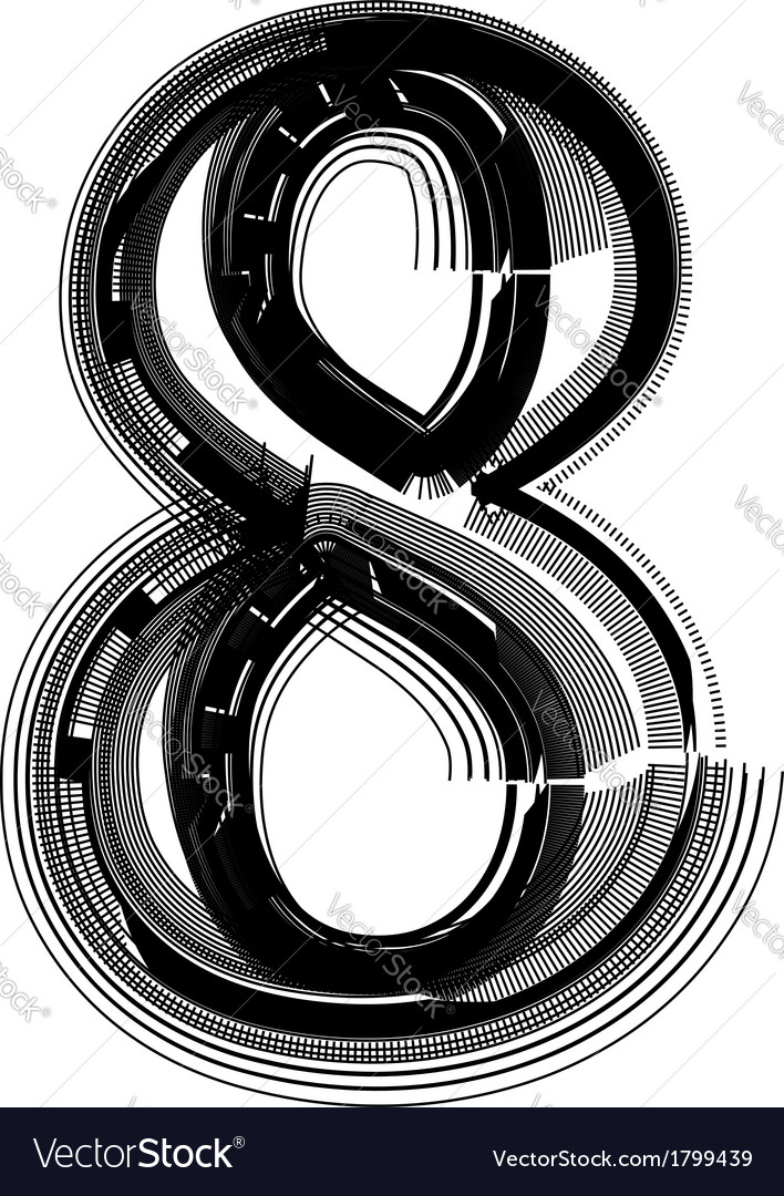 Abstract font number 8 vector | Price: 1 Credit (USD $1)
