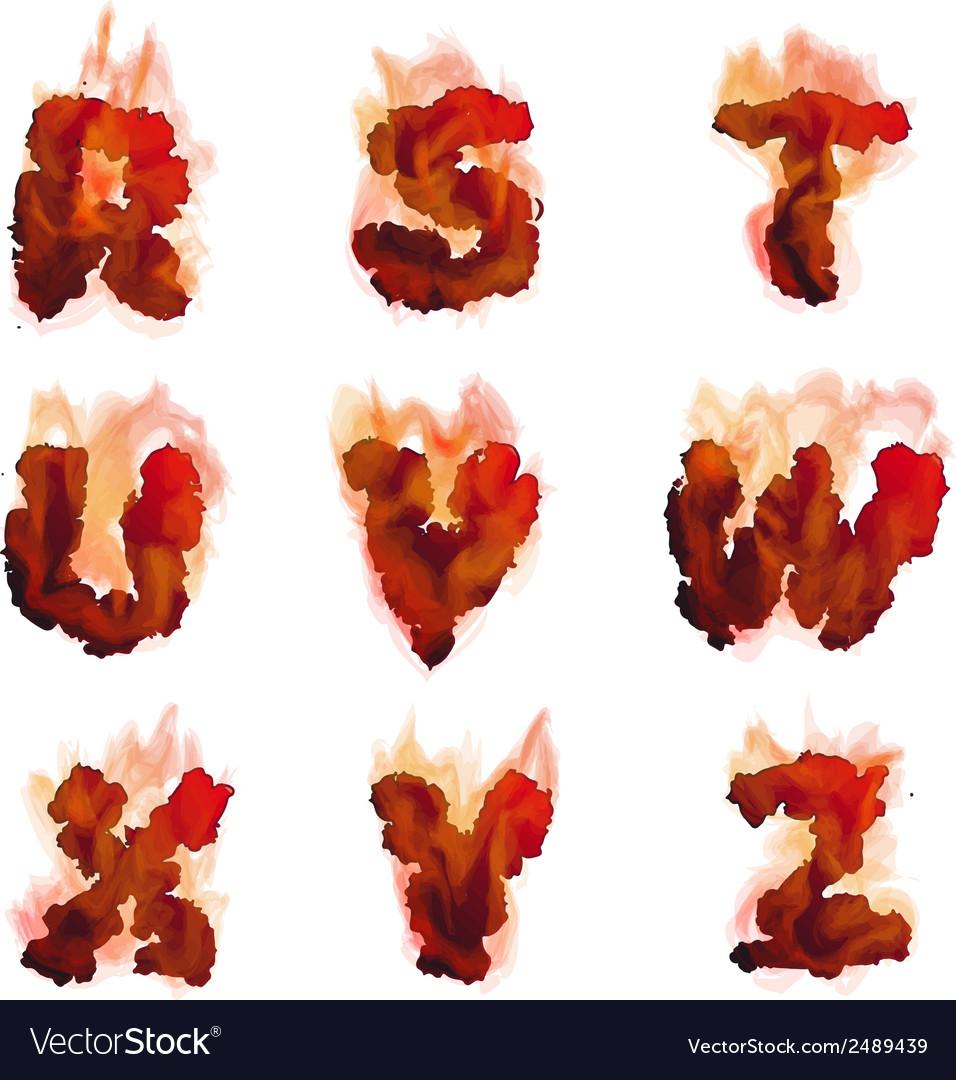 English burning alphabet vector   Price: 1 Credit (USD $1)
