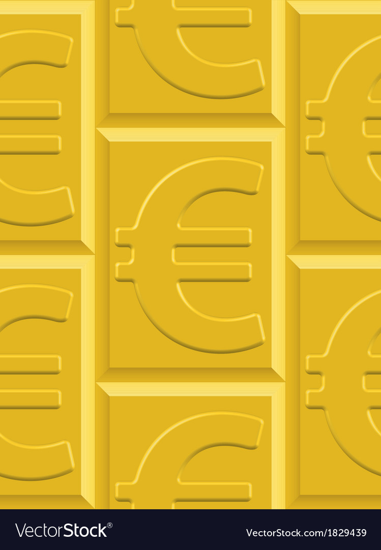 Gold euro pattern vector | Price: 1 Credit (USD $1)