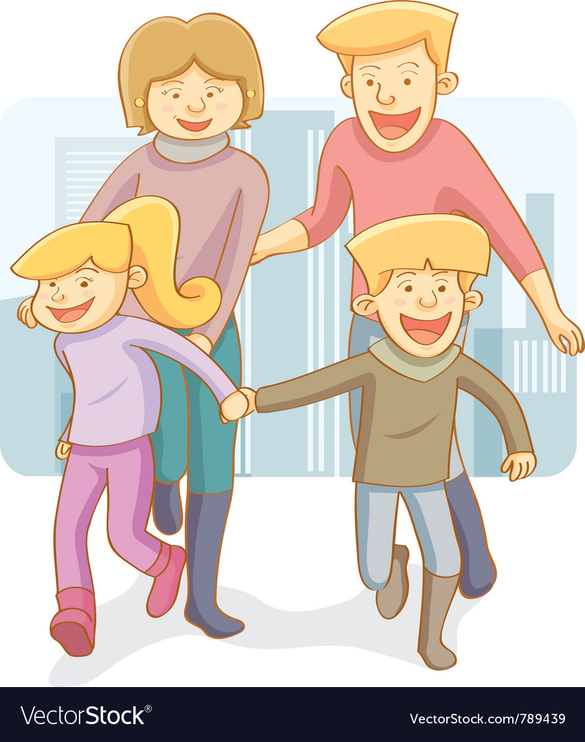 Happy family vector | Price: 3 Credit (USD $3)