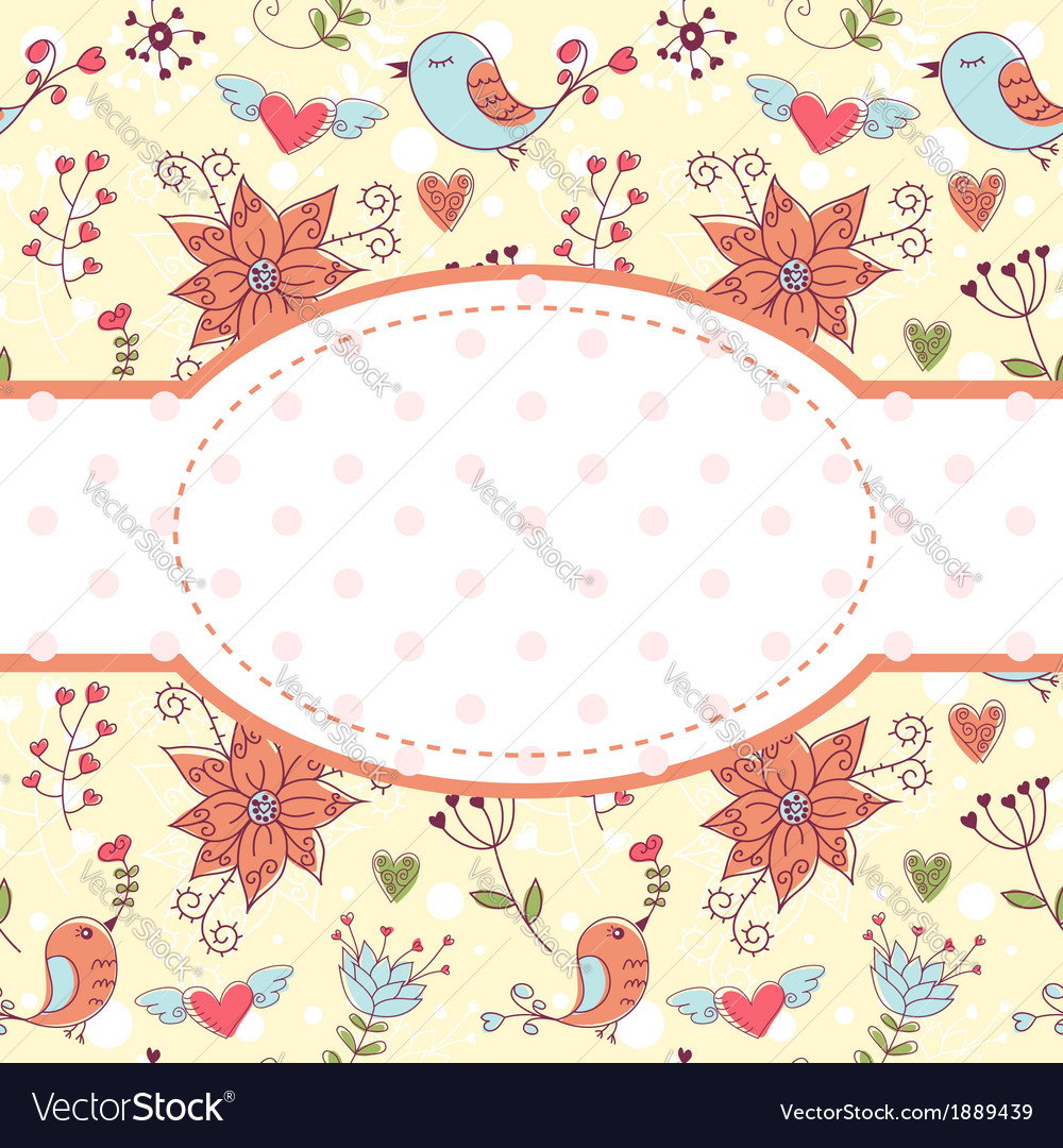 Lovely colorful invitation postcard vector | Price: 1 Credit (USD $1)