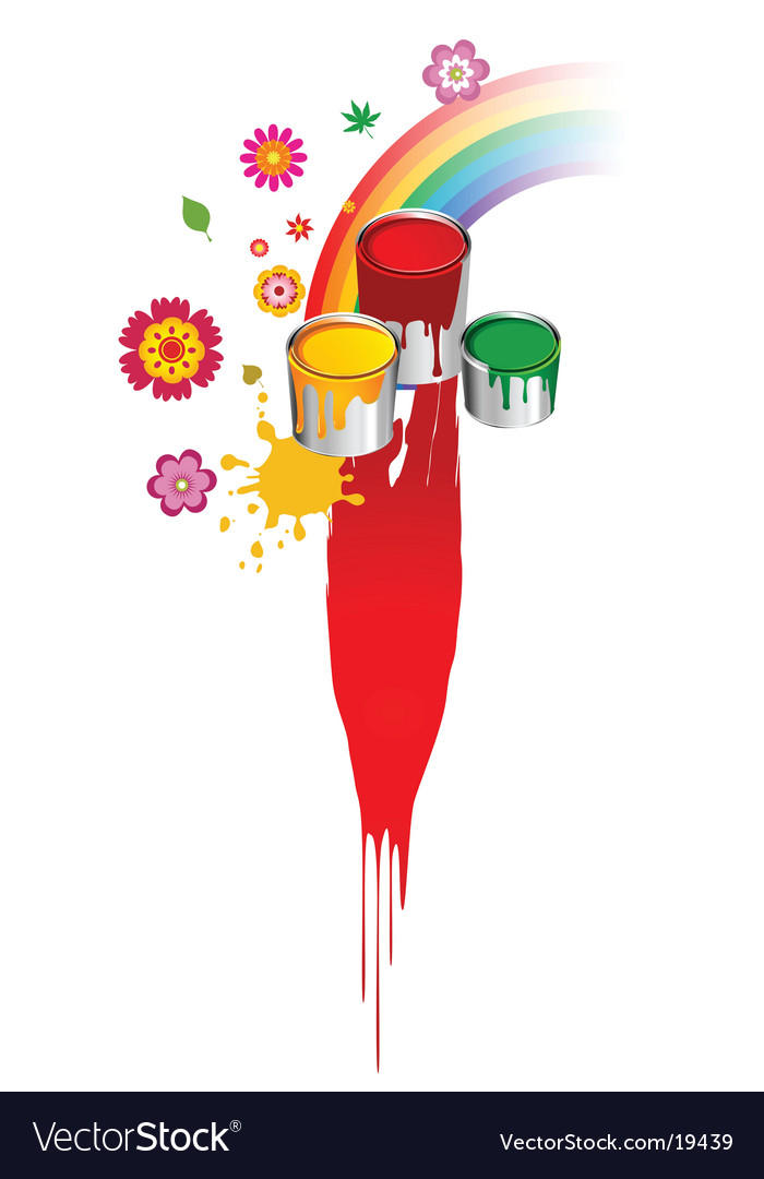 Paint rainbow design vector | Price: 1 Credit (USD $1)