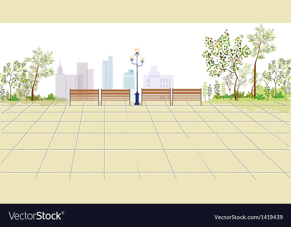 Park townscape sketch vector   Price: 1 Credit (USD $1)