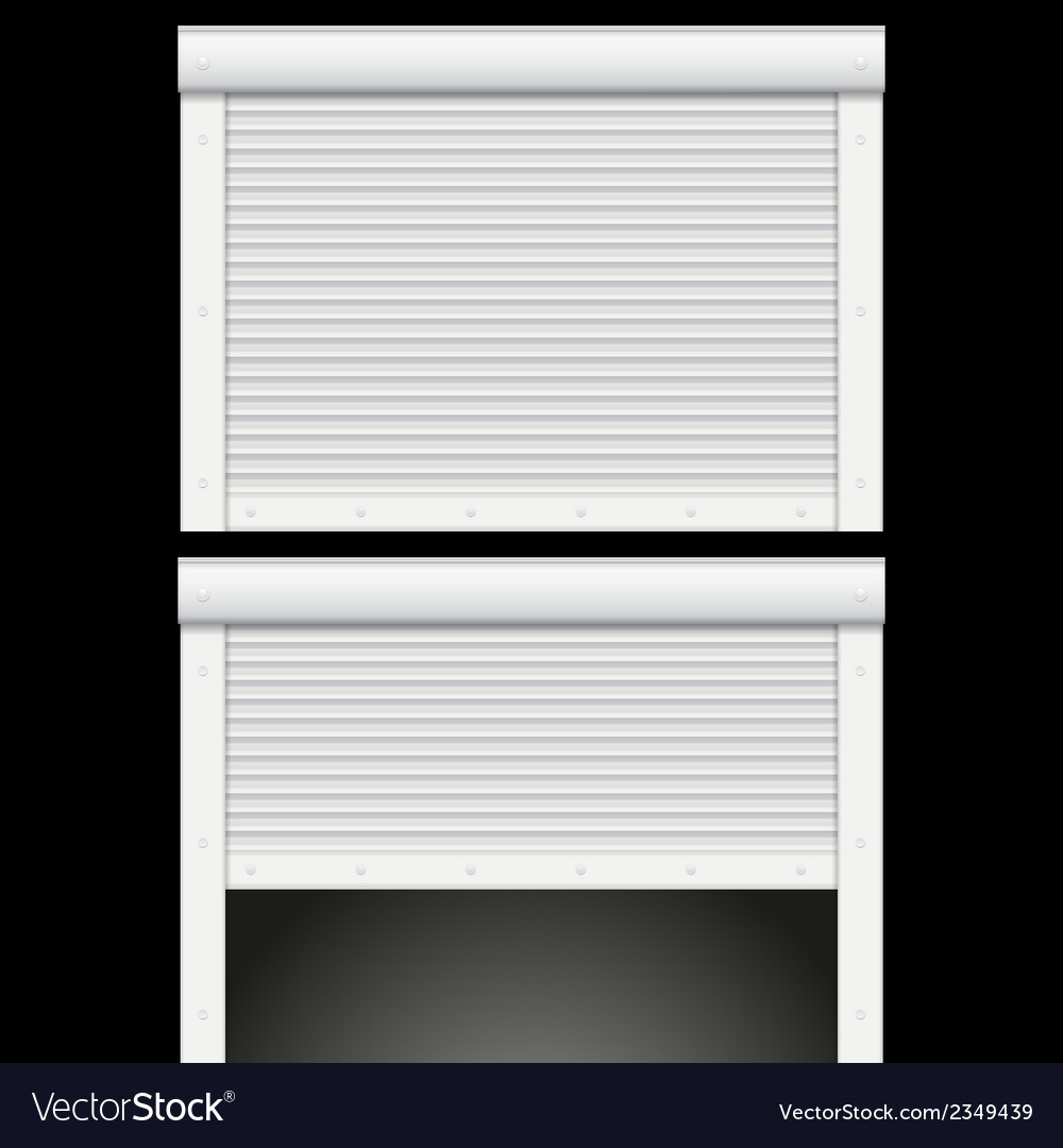Roller shutters garage vector | Price: 1 Credit (USD $1)