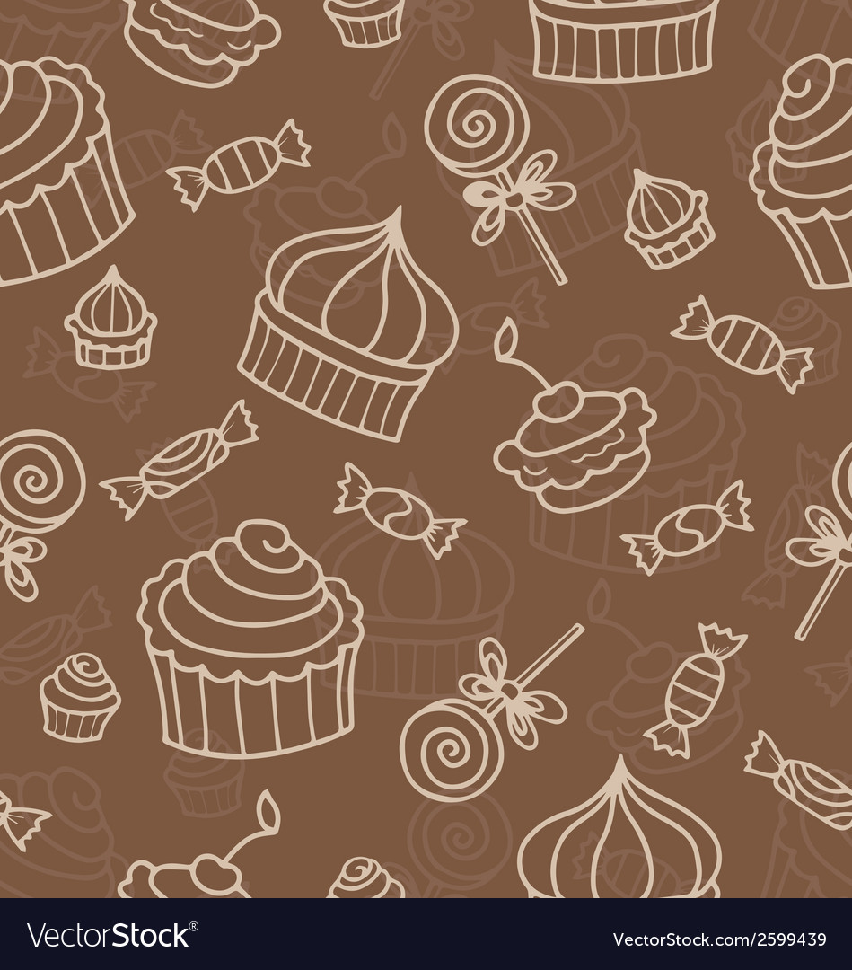 Seamless wirh sweets vector | Price: 1 Credit (USD $1)
