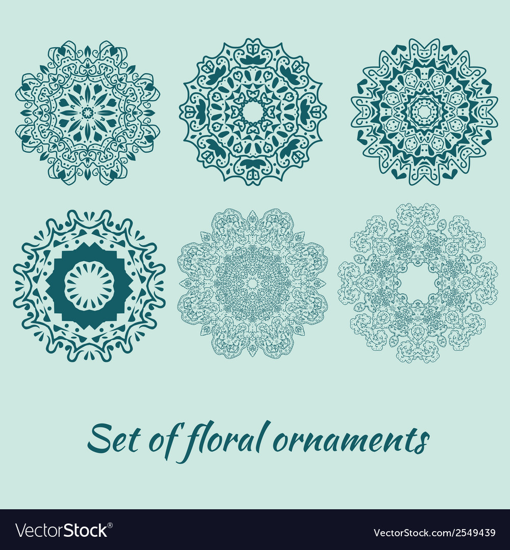 Set of decorative ornaments vector | Price: 1 Credit (USD $1)
