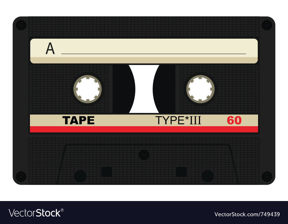 Single 80 isolated tape vector | Price: 1 Credit (USD $1)
