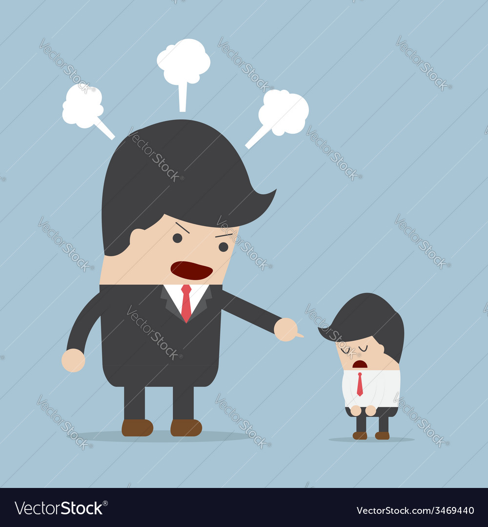 Angry boss and employee vector | Price: 1 Credit (USD $1)