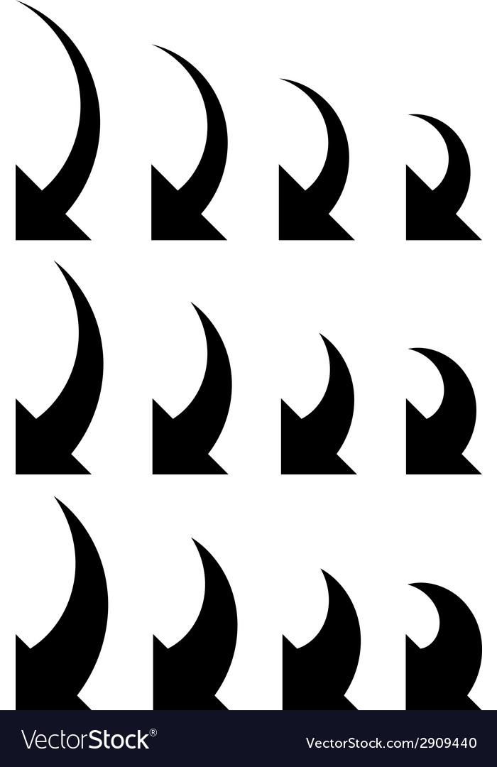 Arrows collection vector | Price: 1 Credit (USD $1)