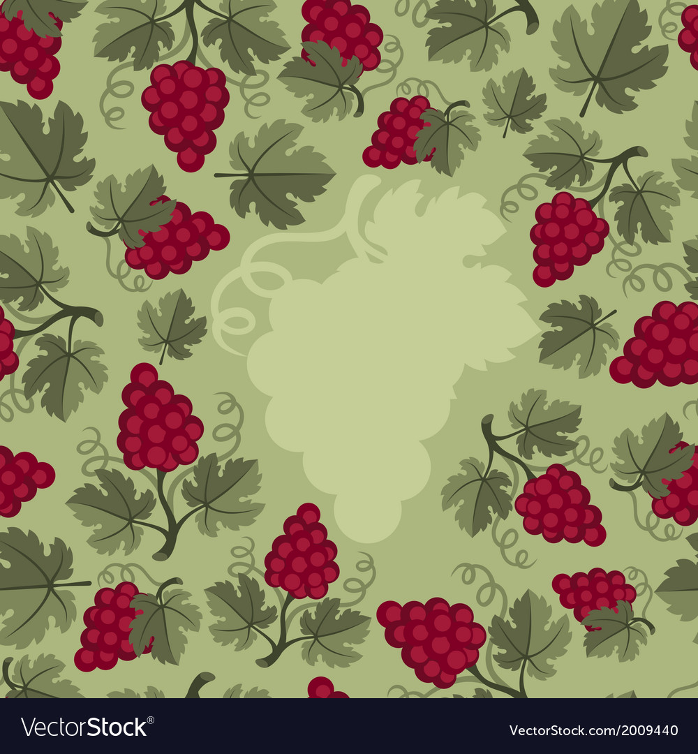 Background design with grapes vector | Price: 1 Credit (USD $1)