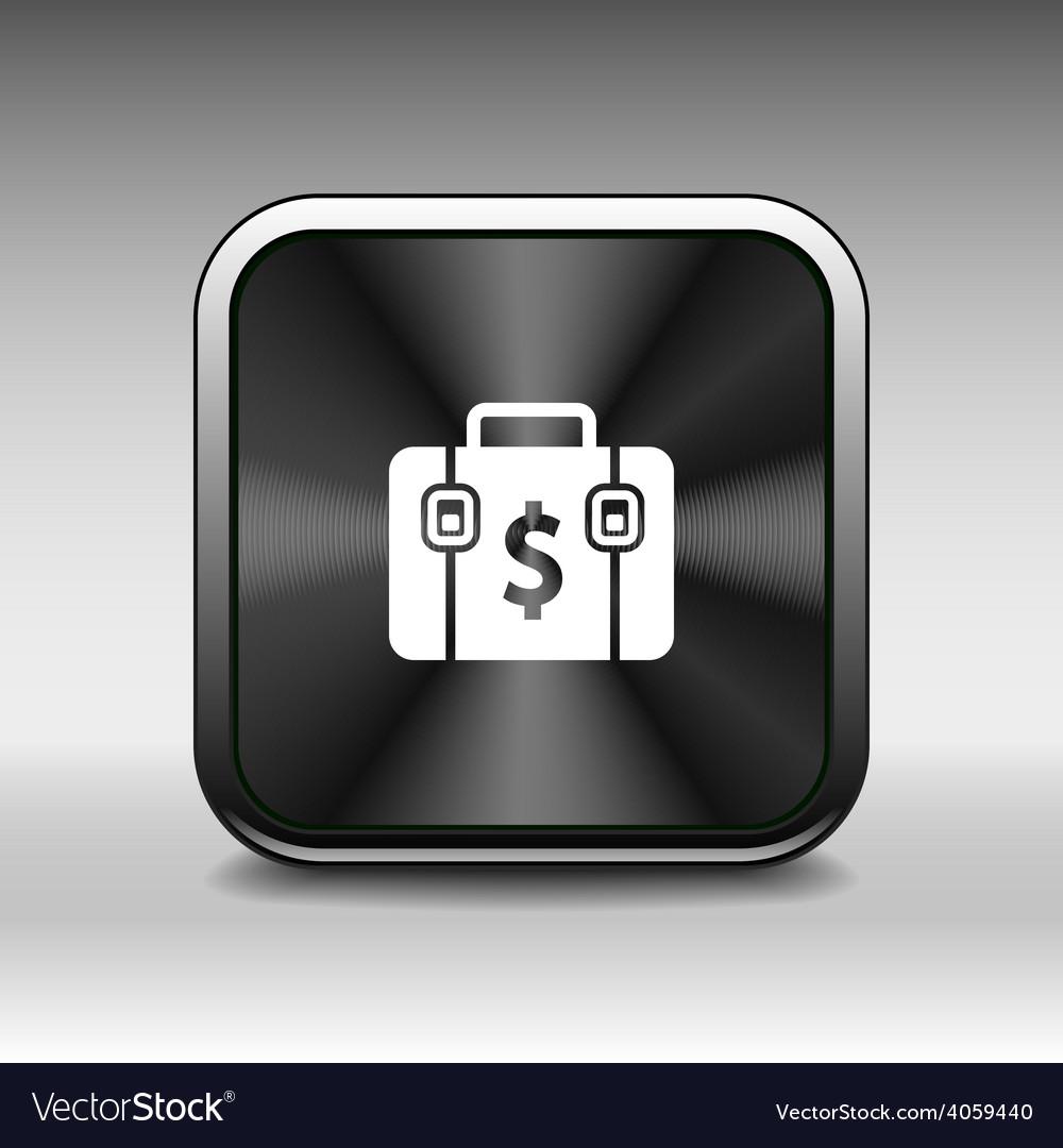 Briefcase icon flat design style vector   Price: 1 Credit (USD $1)