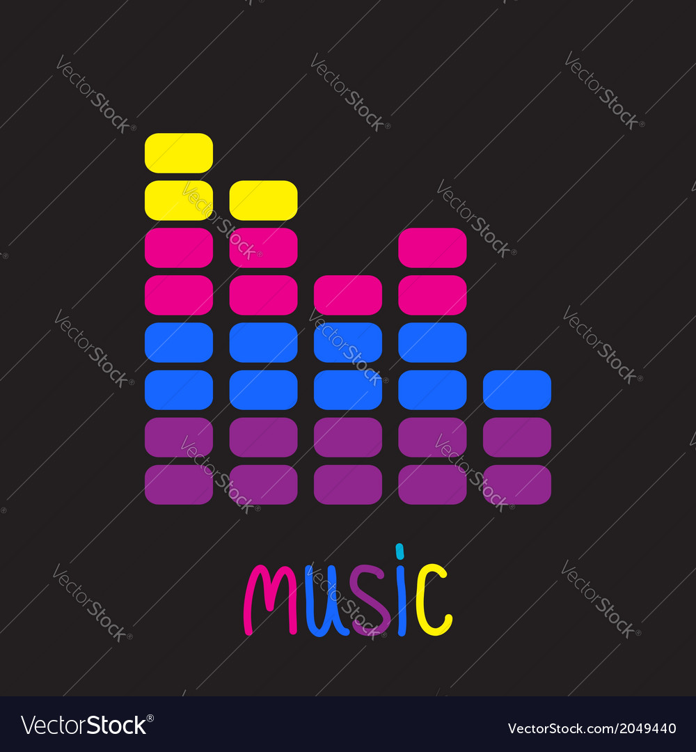 Colurful digital equalizer music card vector | Price: 1 Credit (USD $1)