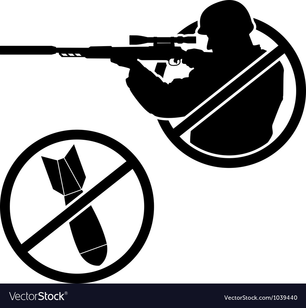 No war stencil vector | Price: 1 Credit (USD $1)