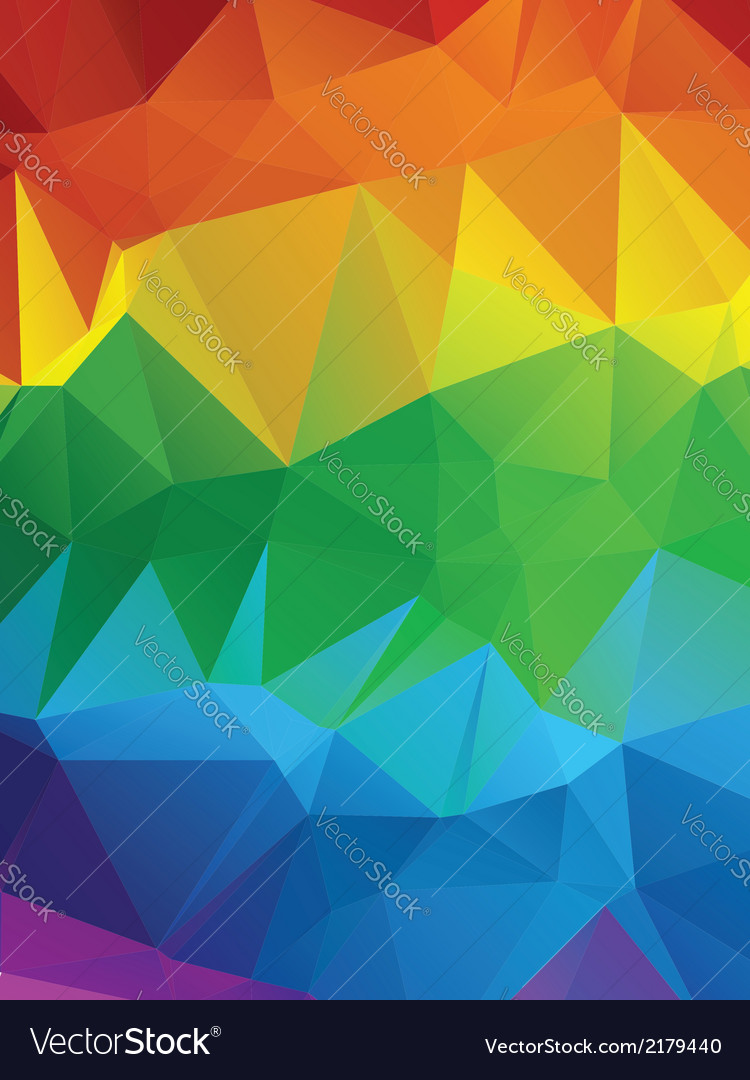 Rainbow polygonal background3 vector | Price: 1 Credit (USD $1)