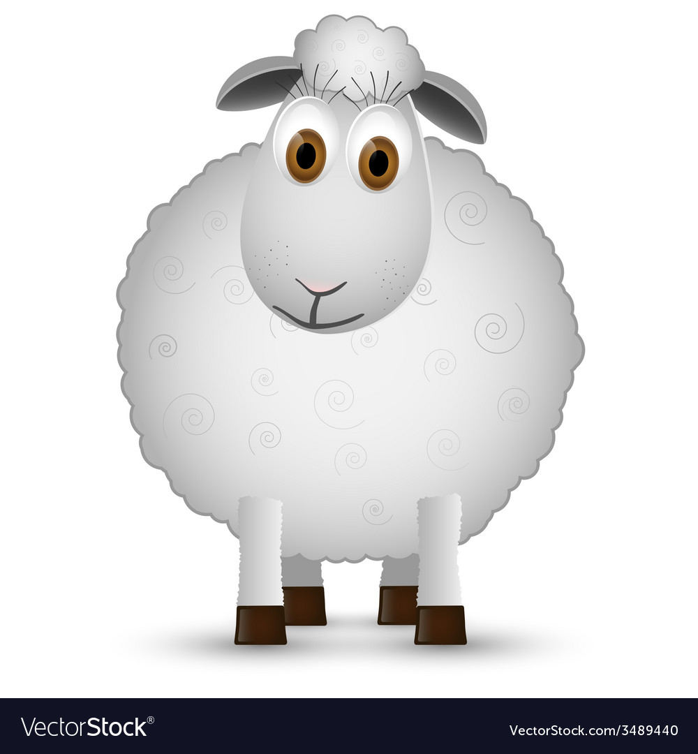 Sheep isolated on white background vector | Price: 1 Credit (USD $1)