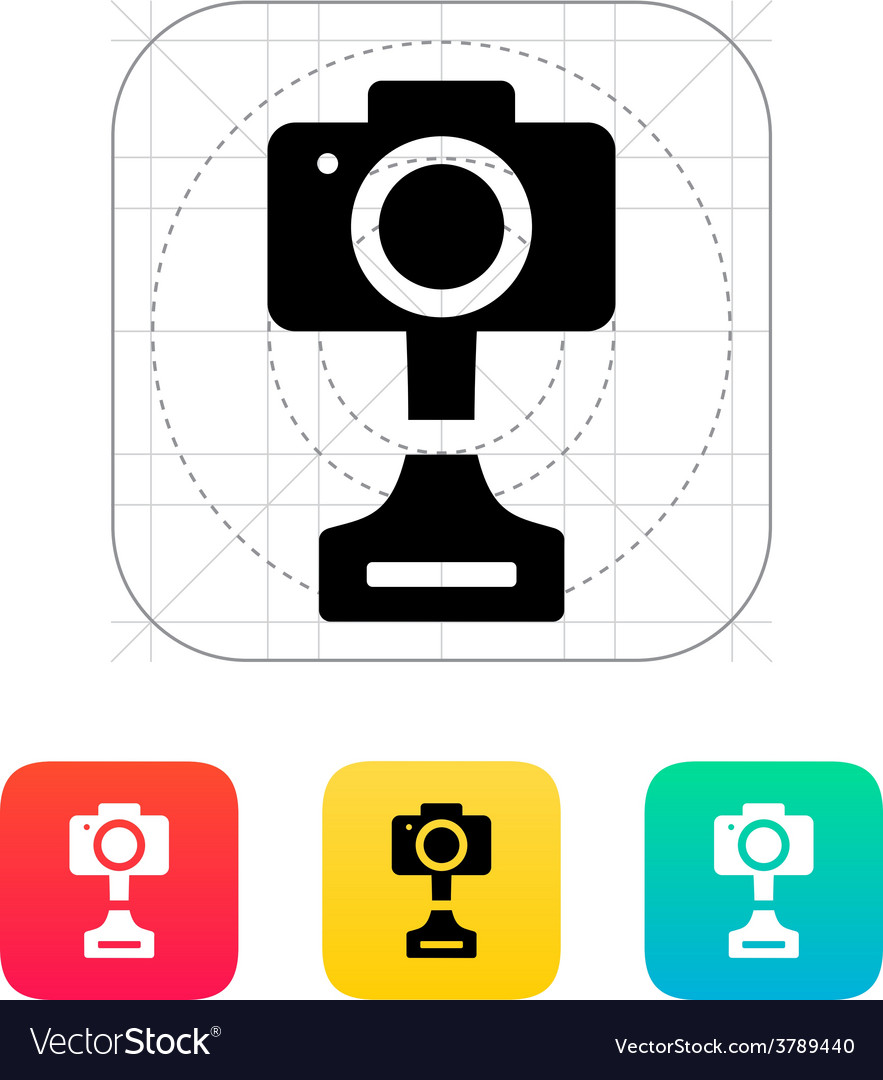 Slr photo award icon on white background vector | Price: 1 Credit (USD $1)